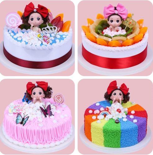 新款芭比小迷糊泡泡澡蛋糕模型仿真欧式水果卡通儿童生日样品流行