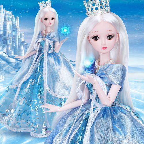 60厘米大型童欣芭比奇洋娃娃套装公主仿真精致超大号