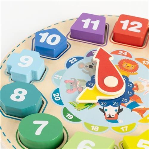 福孩儿 儿童玩具男孩女孩宝宝婴儿积木时钟拼图数字形状颜色