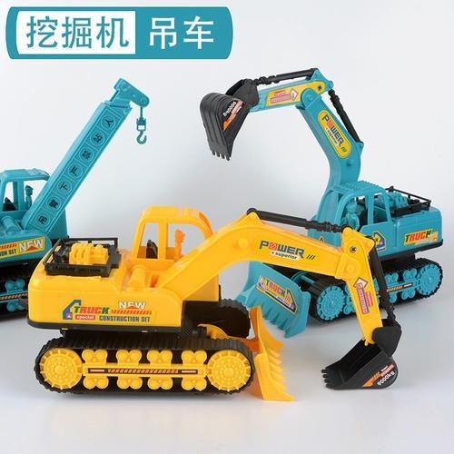 吊车挖掘机玩具儿童深灰色钩玩具玩具大号车工程大