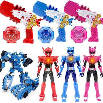 迷你特工队x变身器四形态福弗特路西赛塞西能量盘玩具