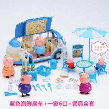 小猪北美佩奇玩具家庭套装粉红佩琪猪一家过家家佩佩奇猪玩具女孩