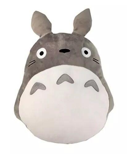 正品totoro宫崎骏动漫正版龙猫毛绒抱枕靠垫毛绒玩具