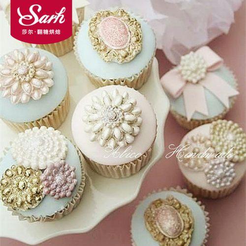古典珠宝宝石硅胶翻糖蛋糕模具工具巧克力模粘土模
