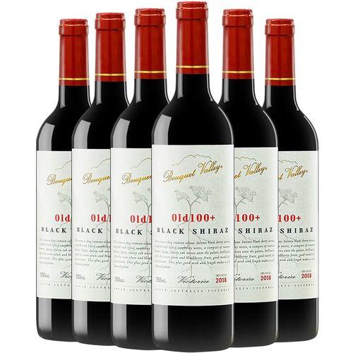 澳洲原瓶进口维多利亚(victoria)黑西拉14度干红葡萄酒750ml*6支装