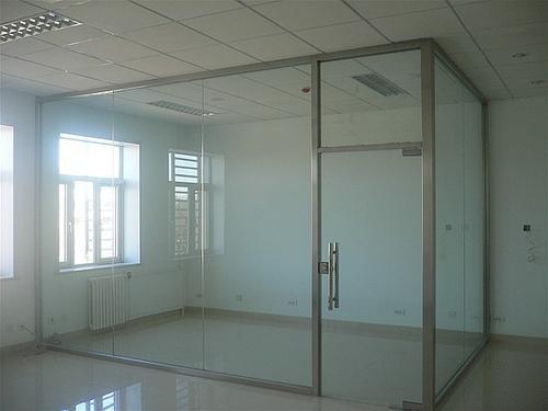 办公室玻璃隔断-不锈钢隔断-会议室隔断-高隔断墙