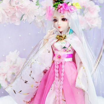 德必胜日记公主娃娃玩具女孩芭比娃娃套装大礼盒sd/bjd娃娃关节换装洋