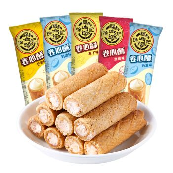 徐福记 卷心酥 夹心饼干散装糕点心零食年货糖果散装多口味混合装
