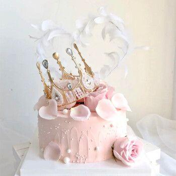 抖音ins网红生日蛋糕许愿星皇冠生日蛋糕同城配送