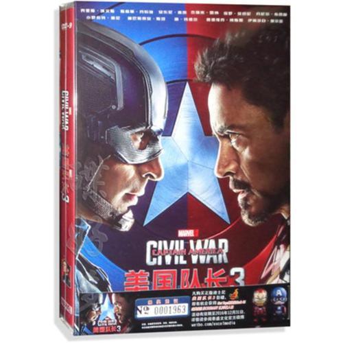 正版美国队长3 dvd光盘英文原版电影高清动作电影碟片