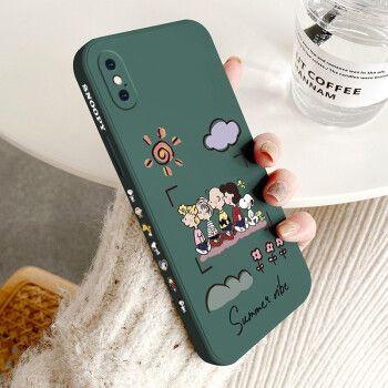夲贝 苹果x/xs手机壳iphonexsmax保护套液态硅胶苹果xr魔方直边超薄