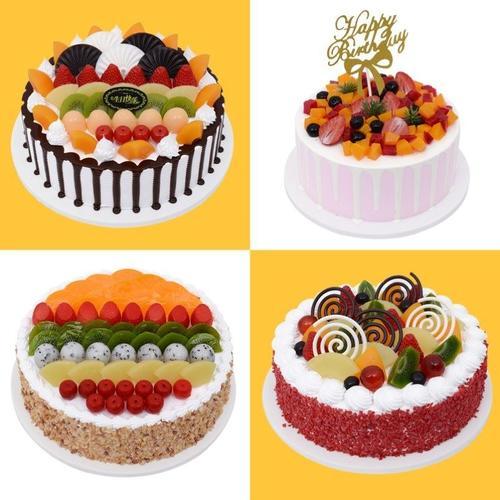 蛋糕模型2020新款儿童套装水果道具店套餐创意影楼面包店橱窗样品