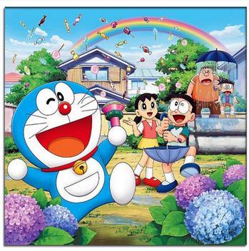 哆啦a梦 机器猫 大雄 钻石画卡通动漫可爱儿童非成品