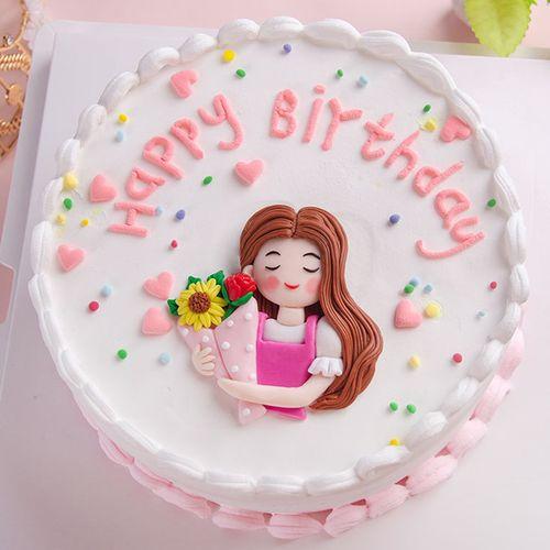 母亲节蛋糕装饰摆件软陶妈妈插件鲜花女神节生日快乐