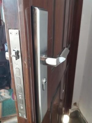 拉手快门适用家用锁单开通用型全铜套装防撬门锁老式门锁具铁门