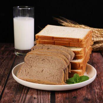 【健身代餐】正宗黑麦吐司全麦早餐面包无蔗糖粗粮饱腹整箱 黑麦吐司