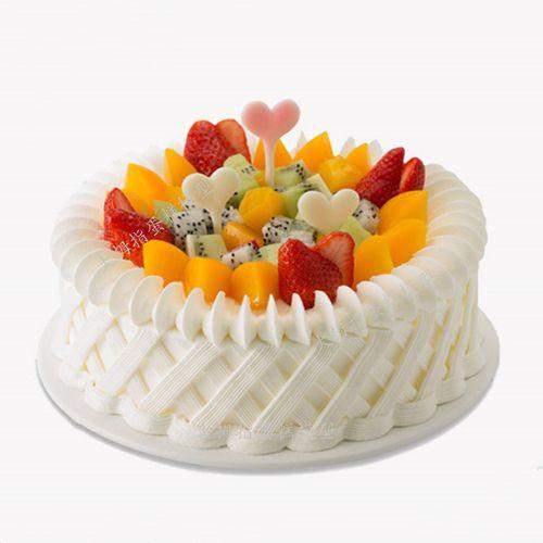 水果仿真蛋糕模型 欧式水果生日蛋糕模型 假体蛋糕模型 仿真蛋糕