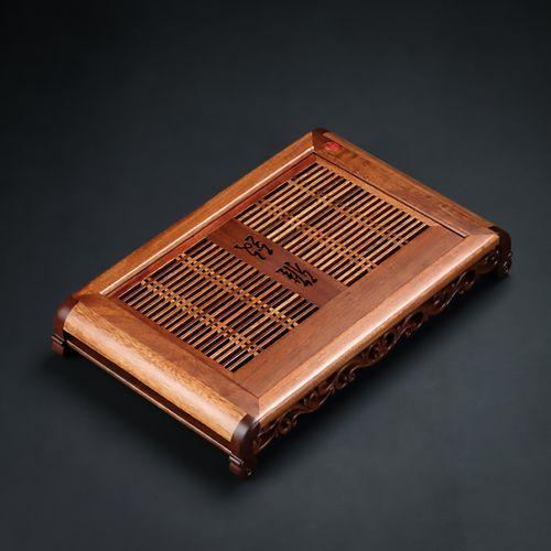 黑檀木茶盘实木抽屉式排水茶海功夫茶具家用简约储水