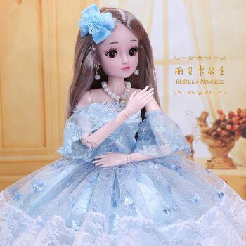 60厘米眨眼童欣芭比奇洋娃娃套装超大号女孩爱莎公主玩偶艾莎玩具