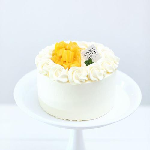 榴莲芒果双拼奶油蛋糕