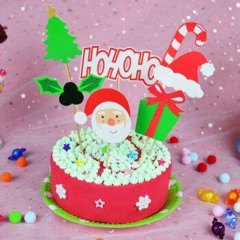 diy制作仿真奶油蛋糕套装6寸轻粘土生日蛋糕材料套装礼物 圣诞老人