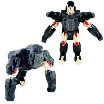 猛兽侠超能勇士变形玩具金刚犀牛黄蜂霸王龙黑猩猩白虎黄豹恐龙 大黑
