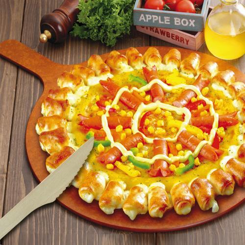 一次性天然木制刀叉勺披萨蛋糕面包木刀165mm knife餐厅外卖餐包