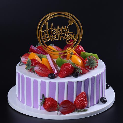 蛋糕模型仿c真2021新款网红欧式水果生日假蛋糕塑胶橱窗样品可定