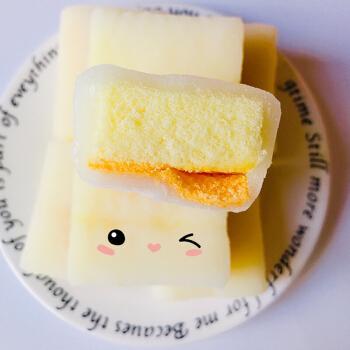 北海道奶盖蛋糕面包 早餐下午茶冰皮夹心酸奶味3口味600g 芒果味600g