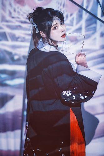 杂食系少女【幽风】国风刺绣棉麻厚褙子春秋对襟长衫女汉服#现货