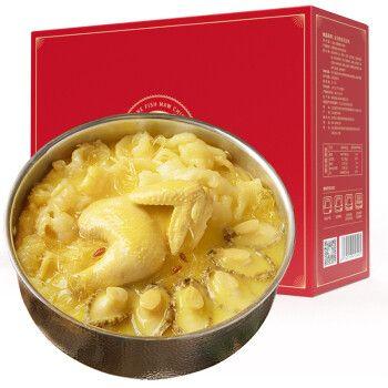 红小厨 花胶鸡礼盒1500g佛跳墙食材鲍鱼鸡肉国产海鲜礼盒大礼包 半