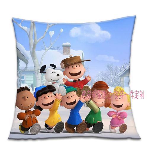抱枕自定义现代简约史努比可爱定制沙发靠枕汽车靠垫