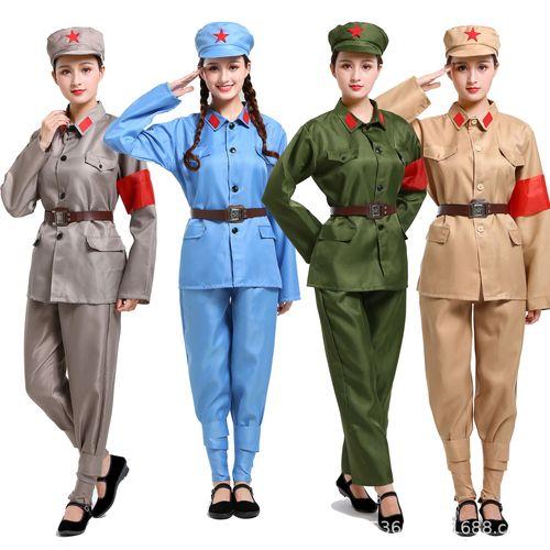 成人军训红军衣服儿童演出服八路军幼儿园男女新四军