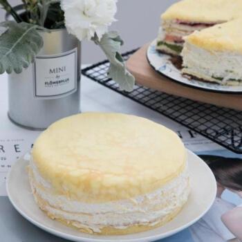 果果老爹 6拼榴莲千层蛋糕6寸爆浆新鲜果肉糕点点心甜品零食生日蛋糕