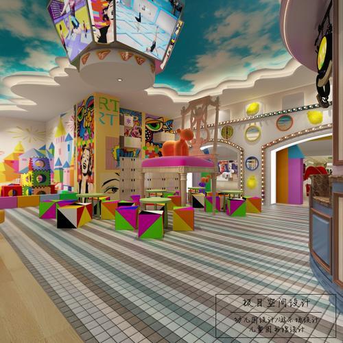 幼儿园游乐场装修设计少儿英语音乐培训场馆展厅3d效果图设计方案