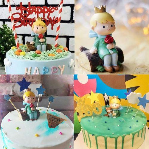 小王子情景蛋糕摆件蛋糕创意微景摆件翻糖生日蛋糕
