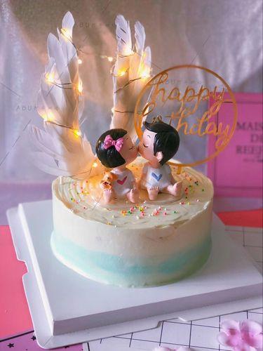 网红神曲款确认过眼神我遇见对的人生日蛋糕插牌装饰
