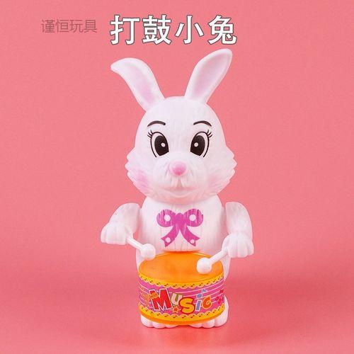 兔子玩具上链儿童敲鼓卡通动物益智玩具 体验装【打鼓小兔】颜色随机