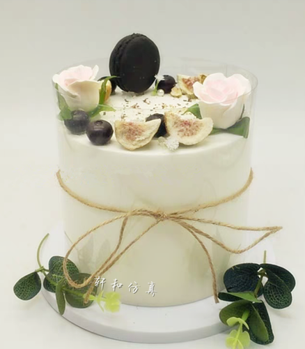 轩和仿真蛋糕模型创新森系艺术风木棉果实生日蛋糕样品 摄影道具