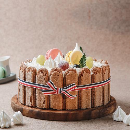 罗森尼娜|梦中的花园-马卡龙 巧克力慕斯蛋糕8# 长沙