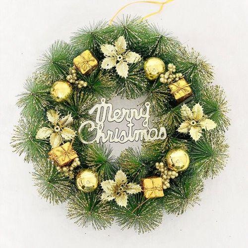 圣诞花环304050cm圣诞节布置挂件挂饰场景装饰品壁挂
