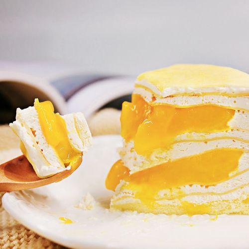 八拼千层蛋糕网红甜点彩虹培尔陪儿榴莲生日蛋糕甜品礼物 芒果千层