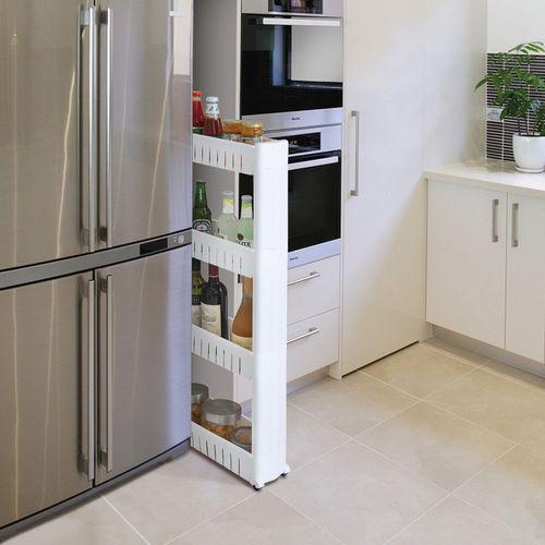 架子置物窄收纳卫生间落地小型多层尺寸厨房迷你超薄