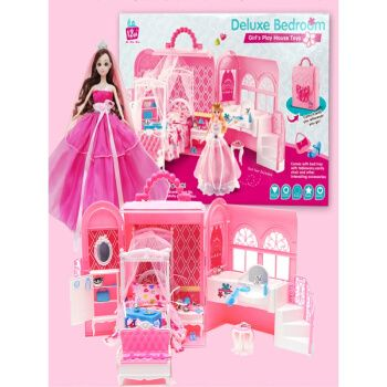 萌芭比比娃娃甜甜屋房子套装大礼盒巴比公主玩具会说话的娃娃洋娃娃