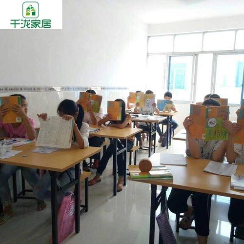 q桌椅园课桌长条折叠中小套装双人组合学生学校辅导班培训会议补
