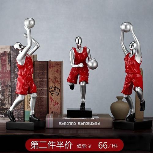 网红同款篮球高尔夫运动人物摆件创意简约现代艺术品