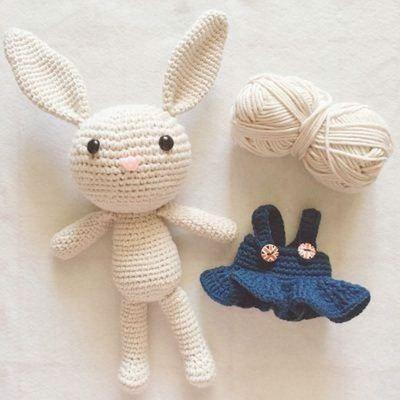 自己做手工布娃娃的材料包玩偶公仔布艺针织制作勾线