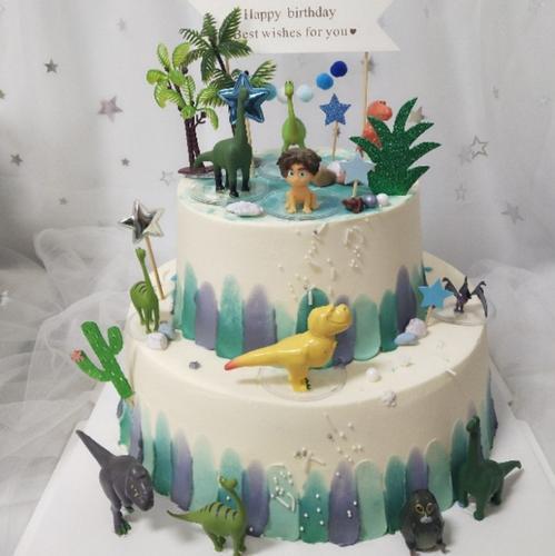 儿童生日蛋糕装饰摆件12款恐龙当家小男孩烘焙装饰