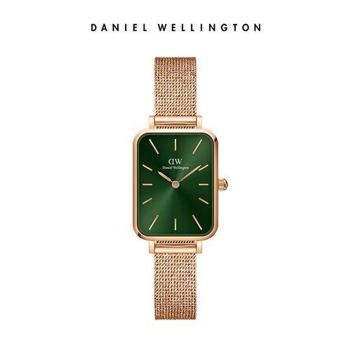 【新品】dw小方表手表女简约复古小绿表石英女表丹尼尔惠灵顿