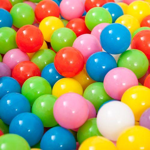 儿童玩具海洋球池加厚海洋球婴儿围栏彩色球投篮可折